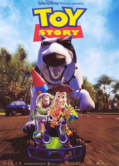 1995 – Toy Story, Movie Poster Walt Disney and Pixar Film Pixar, Pixar Movies, Disney Movies, Disney Pixar, Toy Story 1995, Toy Story Movie, Movie Film, Kung Fu Panda 3, Animated Movie Posters