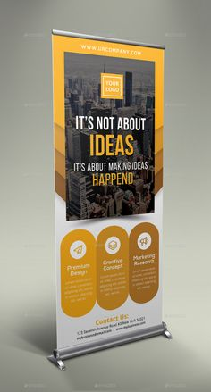 Buy Corporate Business Roll Up Banner by GeniusPoint on GraphicRiver. Features: Easy Customizable and Editable Size in with bleed CMYK Color Design in 150 DPI Resolution Print Rea. Pull Up Banner Design, Standing Banner Design, Roll Up Design, Pop Up Banner, Banner Design Inspiration, Brochure Inspiration, Magazine Ideas, Banner Sample, Standee Design