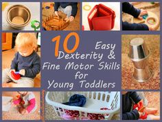 Safe and Easy Fine Motor Activities for Babies & Young Toddlers  Playing with Dexterity around the Home