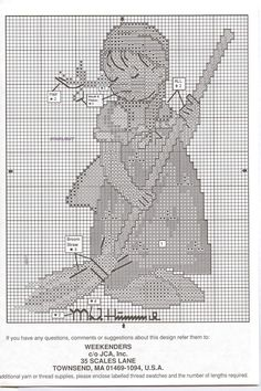 """Little Sweeper"" Hummel cross stitch, pattern 2"