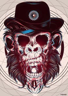Animals – 17 Illustrations et graphic designs de Yo Az Graffiti, Totenkopf Tattoos, Creation Art, Psy Art, Skull Art, Dark Art, Illustrations Posters, Trippy, Concept Art