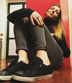 You don't need a guy, when you can have a sparkling pair of #2star shoes!  www.2star.it  #low #shiny #gold #black #sneaker #sneakers #overlain #mesh #gray #glitter #leather #details #laminated #laces #brushed #effect #shoe #shoes #fall #winter #collection #woman #girl #style #fashion #gorgeous #instadaily
