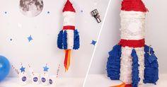 Atelier DIY : Une pinata fusée pour des anniversaires sur le thème de l'espace !