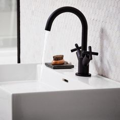 Noir tall basin mixer matt black | bathstore