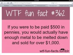 WTF Fun Facts is updated daily with interesting & funny random facts. We post about health, celebs/people, places, animals, history information and much more. New facts all day - every day! Wow Facts, Wtf Fun Facts, True Facts, Funny Facts, Funny Quotes, Random Facts, Crazy Facts, Strange Facts, Qoutes