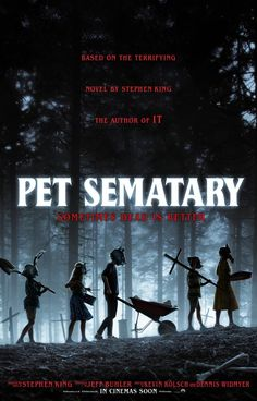 Trailers, TV spots, clips, featurettes, images and posters for the horror film PET SEMATARY based on Stephen King's novel of the same name. Stephen King It, Stephen King Novels, Jason Clarke, Pet Sematary, Horror Movie Posters, Horror Movies, Film Posters, Cinema Online, Mary Lambert