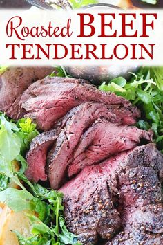 The best recipe for beef tenderloin roasted in the oven! The perfect Christmas dinner idea and holiday main course favorite! dinner main course Roasted Beef Tenderloin - The Anthony Kitchen Beef Tenderloin Recipes, Beef Tenderloin Roast, Roast Recipes, Cooking Recipes, Cooking Courses, Roast Beef Fillet, Perfect Beef Tenderloin, Diner Recipes, Christmas Roast