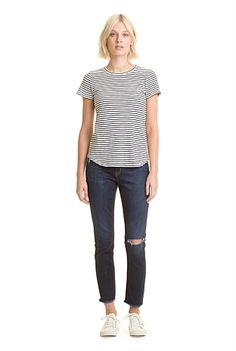 Cotton Slub Stripe T-Shirt   New In