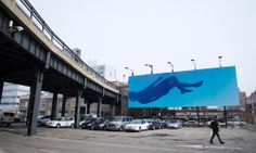 Blue Falling, by Ryan McGinley, was on view from April 1 to April 30, 2013. Photo by Timothy Schenck