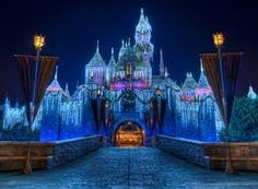 Sleeping Beauty's Castle during Christmas time