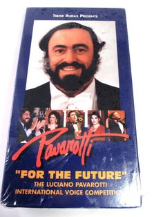 Luciano Pavarotti For the Future VHS Tape Opera