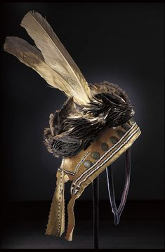 omgthatdress: Man's Headdress Chiricahua Apache, The Metropolitan Museum of Art Native American Clothing, Native American Artifacts, Native American Tribes, Native American History, American Indians, Native Indian, Native Art, Plains Indians, American Indian Art