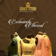 Exclusive designer outfits with a varying range of colors, patterns, craft, and hand done work.
