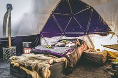 Dog Sledding and Glamping Experience