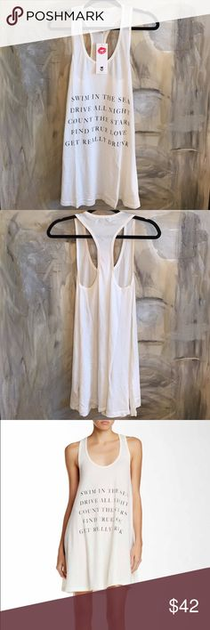 Wildfox Tank Dress ⭐️️PRICE IS FIRM⭐️Brand new! 100% cotton. Color is an off-white. Wildfox Dresses