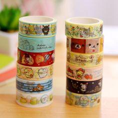 Cheap scrapbooking tape, Buy Quality washi tape directly from China masking tape Suppliers: 1Pcs Cute Rilakkuma Sentimental Circus Washi Tape Masking Tape Decoration DIY Sticky Self Adhesive Tape Scrapbook Tape 5M M0284
