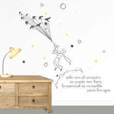 Vinilo infantil El Principito. Un vinilo de El Principito para decorar la pared de la habitación infantil