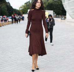 Leandra Medine in a Céline dress and Chanel shoes - Paris Fashion Week Spring-Summer 2016 #PFW #StreetStyle