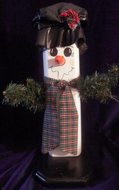 Fence Post Snowman. $20.00, via Etsy.
