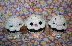 Kawaii amigurumi cupcakes