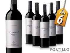 Pack de 6 Vinos Tintos Merlot Argentino 750 ml