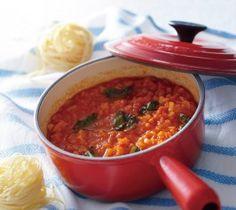 トマトとバジルのソースの作り方
