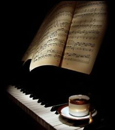 piano music and coffee