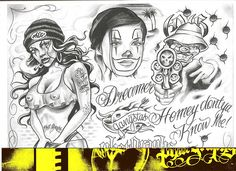 Chicano tattoo Designs | Tattoovoorbeeld                                                                                                                                                     More
