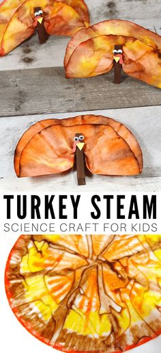 Find out how coffee filters and clothes pins can be turned into the cutest Thanksgiving turkeys with this quick and easy coffee filter turkey craft. A fun and simple Thanksgiving themed art project. Create a Thanksgiving turkey with coffee filters.