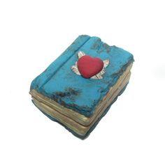 Book Locket pendant Unique vinatge antique by DevilishDesigns, $30.00