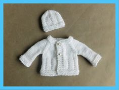 Jack & Jill Baby Jacket ~ Extra Small ~ chest ~ Short or Long Sleeves Jack & Jill Baby Jacket ~ Extra Small ~ chest . Baby Hat And Mittens, Baby Cardigan Knitting Pattern Free, Baby Hats Knitting, Baby Knitting Patterns, Baby Patterns, Free Knitting, Crochet Patterns, Cardigan Pattern, Knit Baby Sweaters