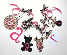 pink leopard print baby shower decorations | Leopard baby shower decorations pink and black cheetah it's a girl ...