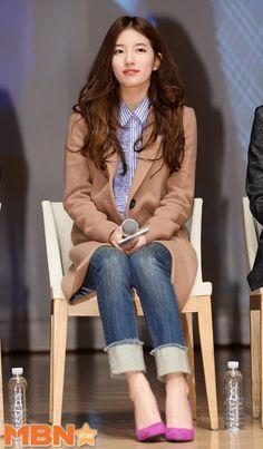 151105-star-suzy3-193b8 Suzy Bae Fashion, Cozy Fashion, Kpop Fashion, Fashion 2017, Korean Fashion, Fashion Models, Girl Fashion, Fashion Outfits, Airport Fashion