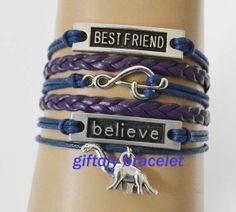 believe braceletbestfriendMusic notation dinosaur by giftdiy, $6.99