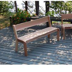 "The Bear Chair Cedar 5"" Bench w/Backrest Kit"