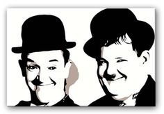 Laurel and Hardy Modern Canvas Art, Canvas Art Prints, Laurel Et Hardy, Stan Laurel, Image Svg, Pop Art Wallpaper, Silhouette Art, Superman Silhouette, Artist Sketchbook