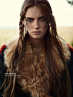 "Boho chic with fur, gorgeous editorial from Swedish Elle ""Naturbarn"""