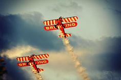 Breitling Wingwalkers (@ sunset)  -  Sanicole Airshow 2010