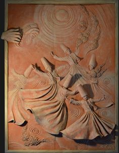 ` ` The Whirling Dancers ` `, 91 x 64 cm, for sale . Meryam Javidmehr is a sculptor primarily working with high reliefs. her traditional work style are among the rarities in the contemporary world of art. she is a great relief artist...