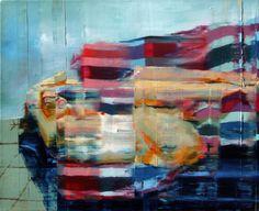 Nu com pernas encolhidas sobre forro colorido.50 cm x 61 cm.Taigo Meireles. 2011