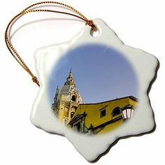Danita Delimont  Cathedral  Cathedral Santa Catalina de la Alejandria Plaza de Bolivar Colombia  3 inch Snowflake Porcelain Ornament orn_228754_1 -- Check this awesome product by going to the link at the image.