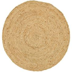 We love the texture of this handwoven round rug.   $41