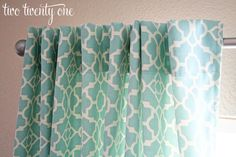 How to Make Curtains {DIY} - GREAT TUTORIAL. She writes a great blog & gives you her sources & prices paid! Two Twenty One