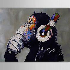 peinture à l'huile moderne main gorille abstraite toile avec cadre étiré peint - CAD $ 111.19