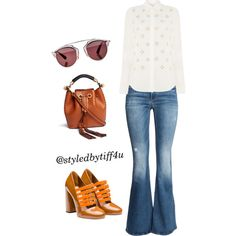 A fashion look from September 2015 featuring Michael Kors blouses, H&M jeans and Miu Miu pumps. Browse and shop related looks.