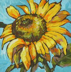 Sunflower 3 Painting  - Sunflower 3 Fine Art Print