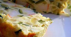 Pastel de calabacín con surimi