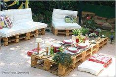 Мебель для патио из палет
