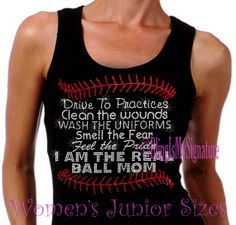 I Am The Real Ball Mom - Stitch Lace - Iron on Rhinestone Ribbed Tank Top - Bling Hot Fix Stitch Sports Mom Transfer Shirt Top