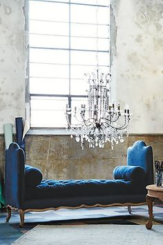 Upholstered Daybeds to Lounge on in your Living Room Some décor pieces have the ability. Upholstered Daybed, Blue Couches, Navy Sofa, Asian Home Decor, Lounge, Interior Decorating, Interior Design, Interior Exterior, Decoration